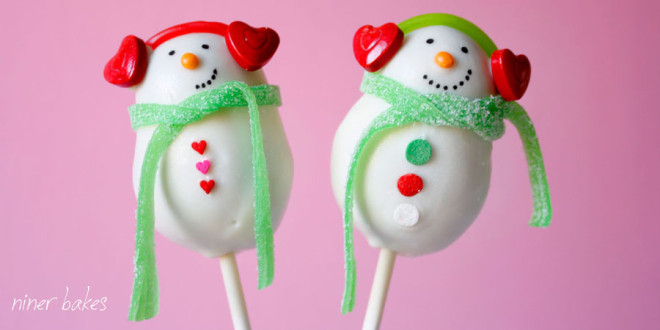 Snowman cake pops.