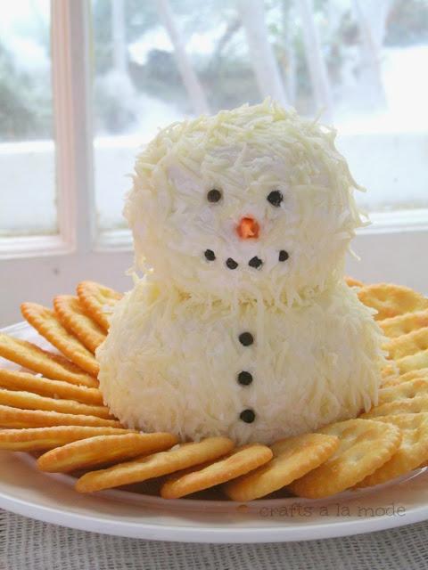 Snowman cheeseball.