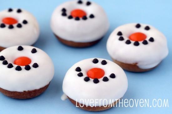 Snowman donuts.