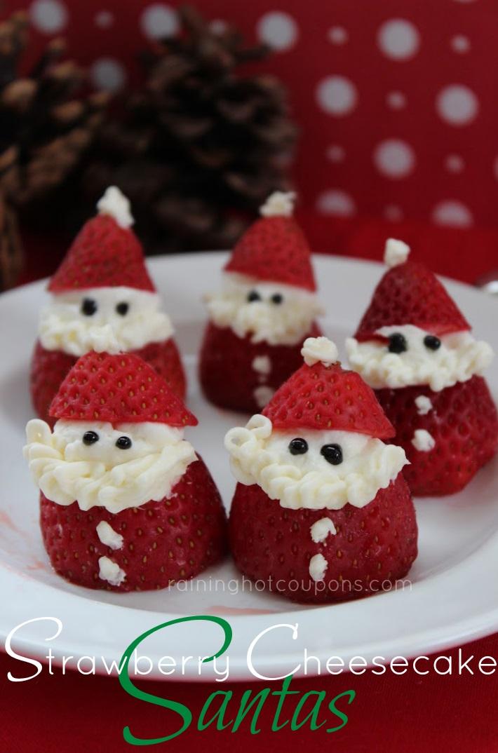 Strawberry cheesecake santas.