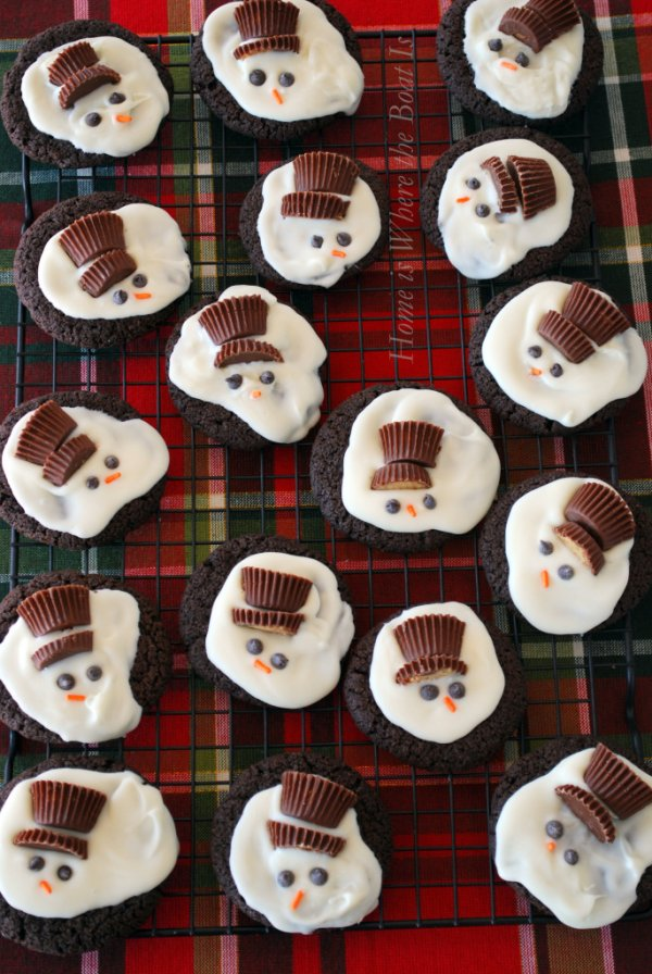 Yummy melted snowman cookies.