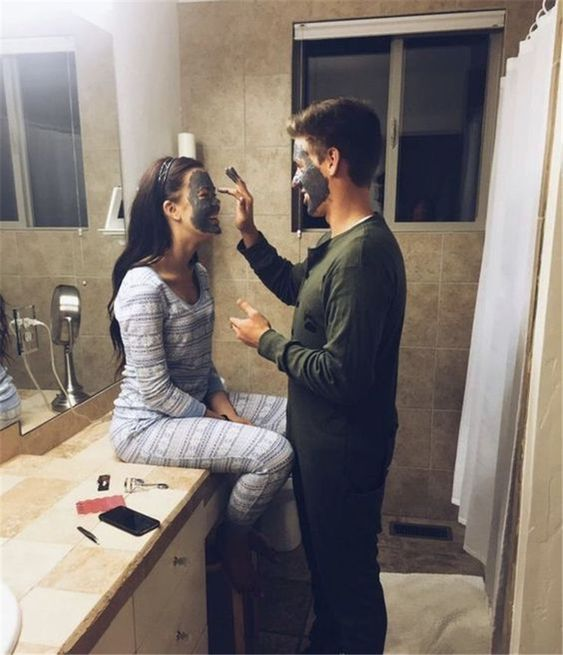 Apply face mask to each other.