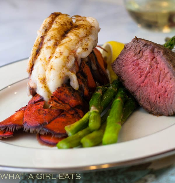 Broiled lobster tail.