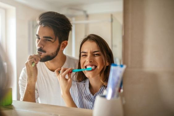 Brush your teeth together on Valentine's day.
