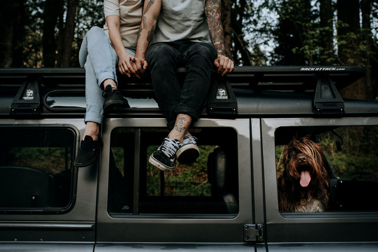 Cool couple road trip.