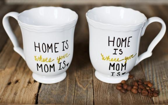DIY mug for mom for Valentine's day.