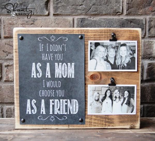 DIY photo frame gift for mom.