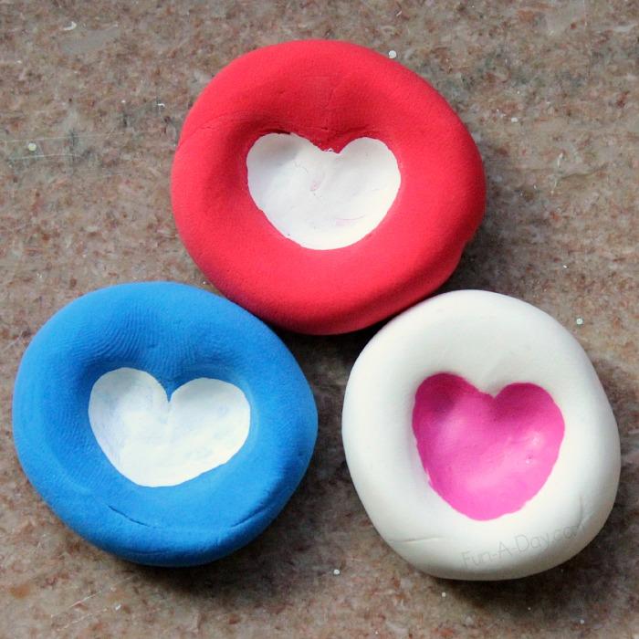 Finger print heart for gift.