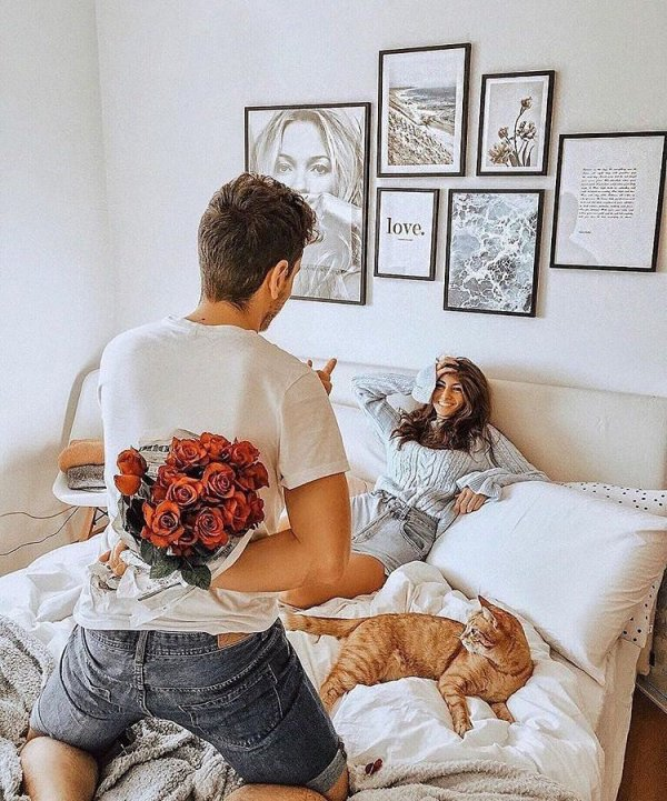 Give her flowers in morning.