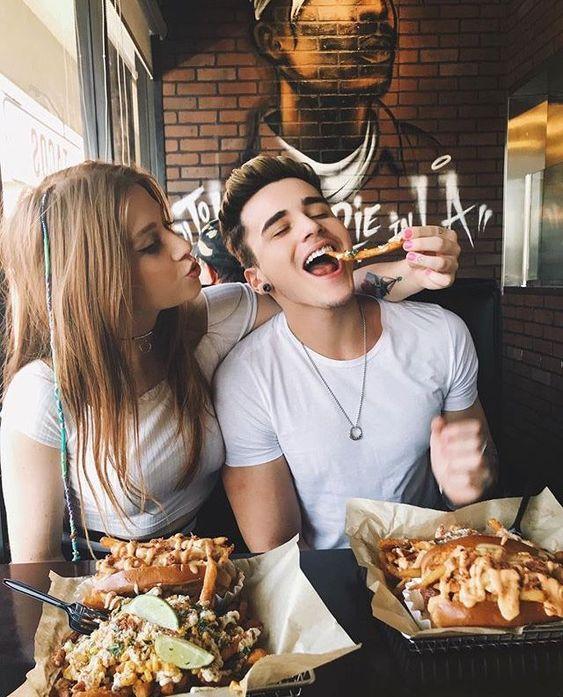 Have food together.