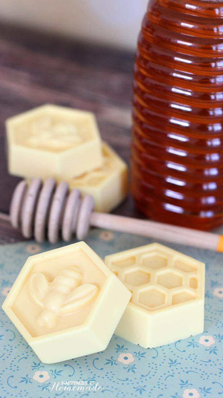 Homemade milk & honey soap.