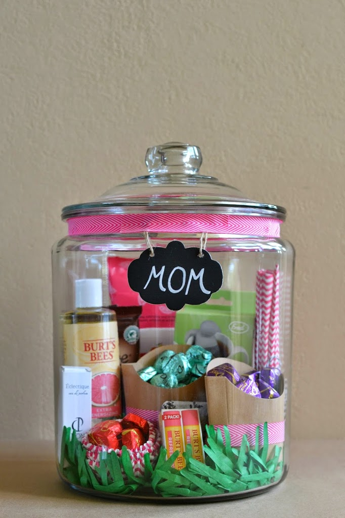 Jar is filled with essential things for your mom.