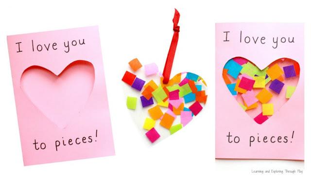 Love you to pieces suncatcher card.