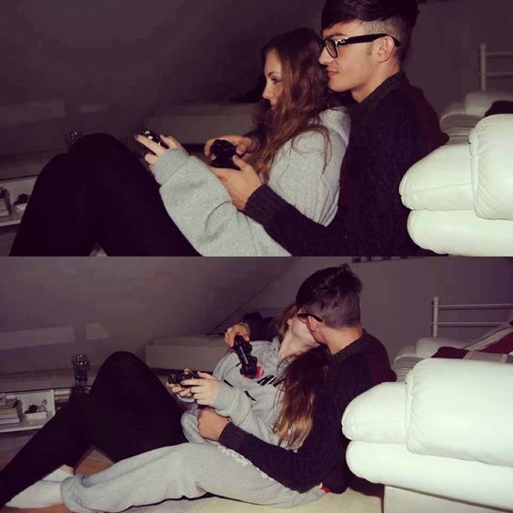 Play video game together.