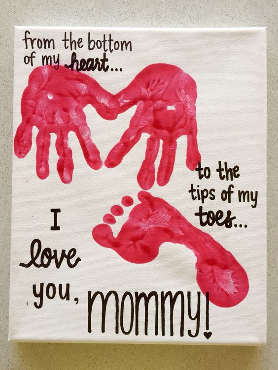 Pretty love canvas for mother.