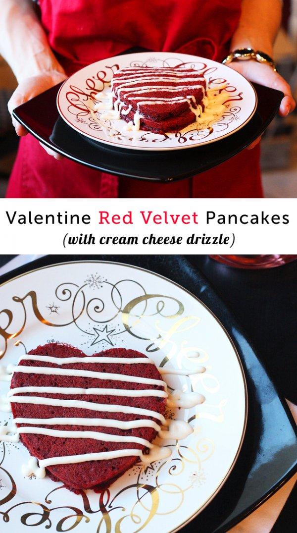 Red velvet pancake.