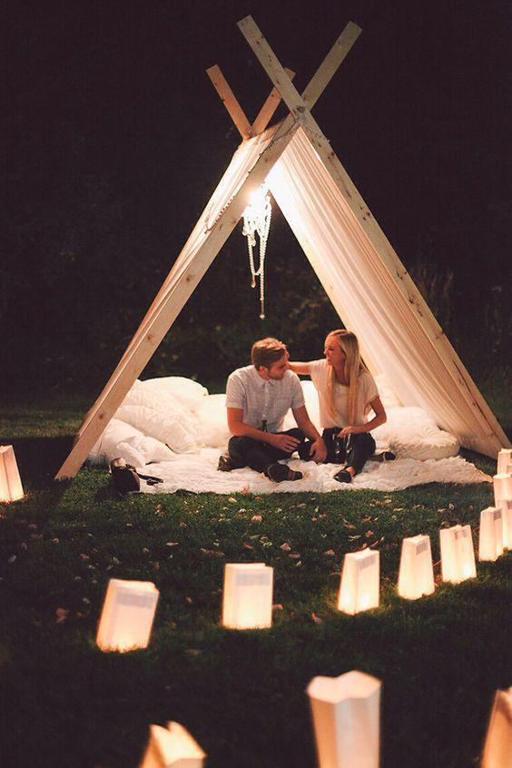 Set a camp and enjoy romantic night.