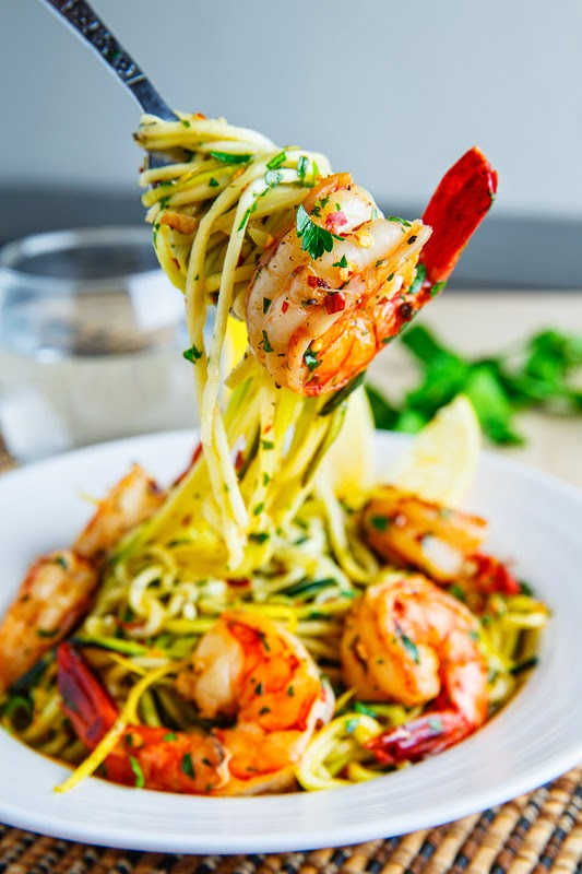 Shrimp Scampi with Zucchini Noodles.
