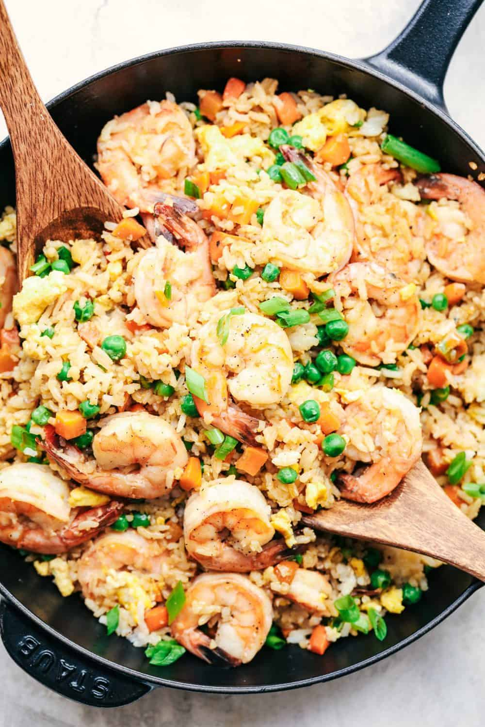 Shrimp fried rice.