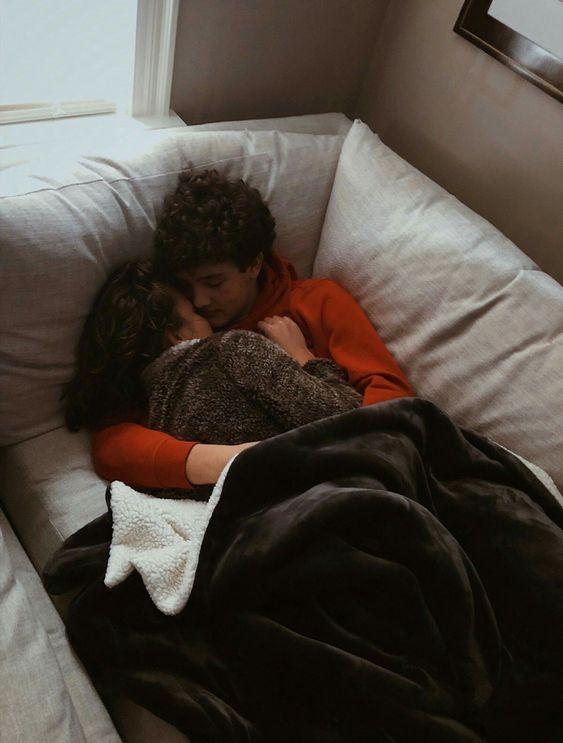 Snuggle up.