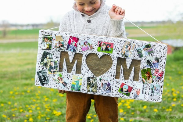 Wonderful string art frame of mom.