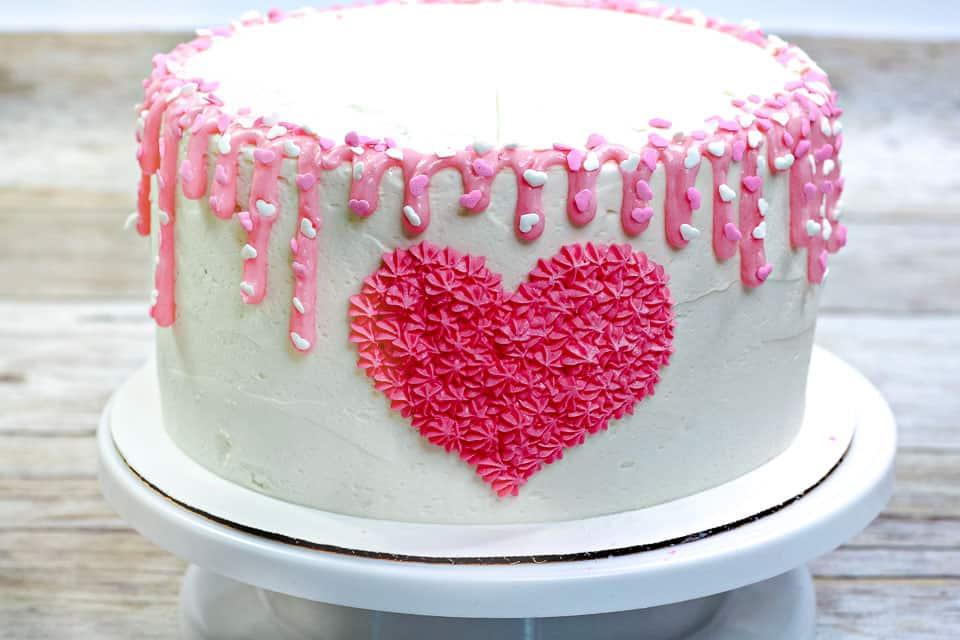 Beautiful Valentine's day heart cake.