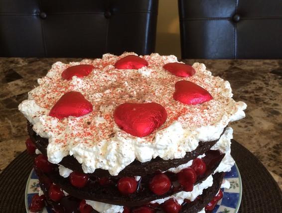 Black forest Valentines day cake.