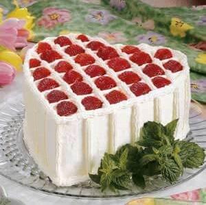 Chocolate chiffon Valentine's day cake.