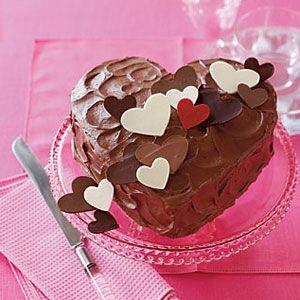 Delicious Valentine's day chocolate cake.