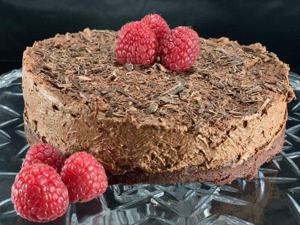 Mini Chocolate Mousse Cake.