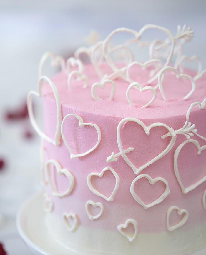 Raspberry Valentines day cake.