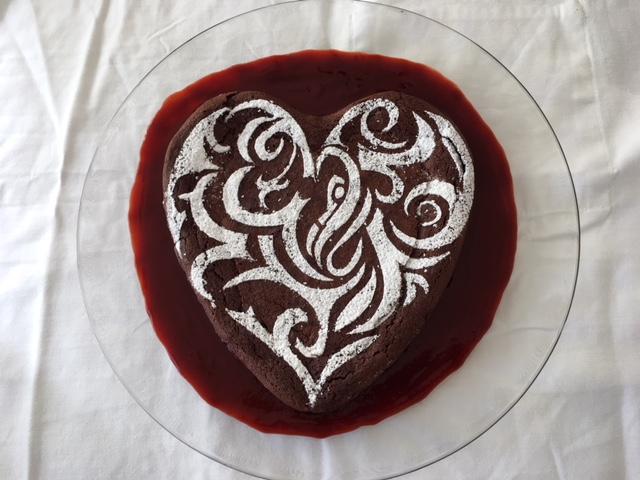 Yummy Valentine's day heart cake.